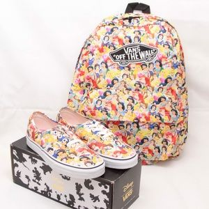 Vans X Disney Princess Sneakers & Backpack
